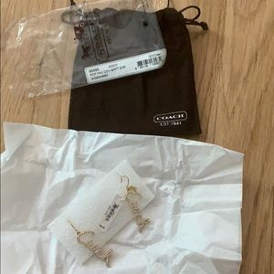 Brand new coach earrings with tags